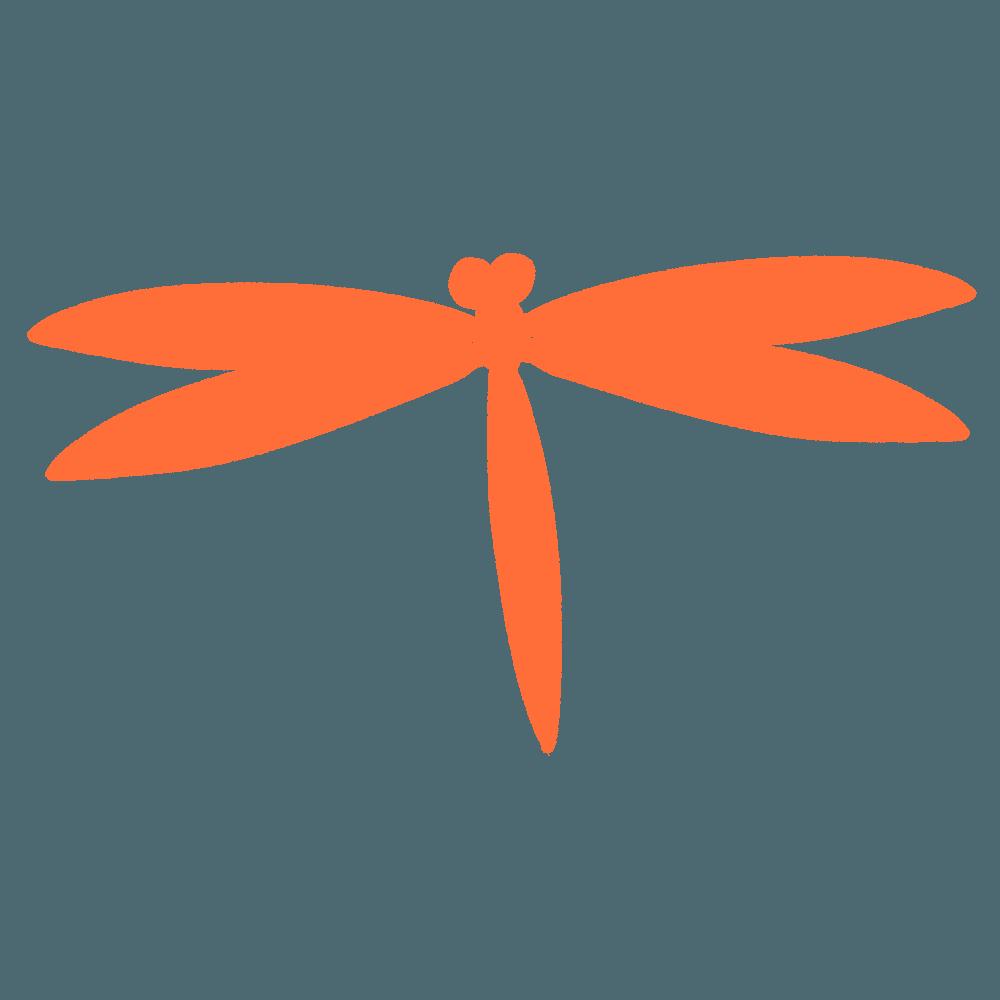 秋のトンボシルエットイラスト