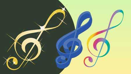 ト音記号イラスト - 面白い音楽のイメージ無料素材