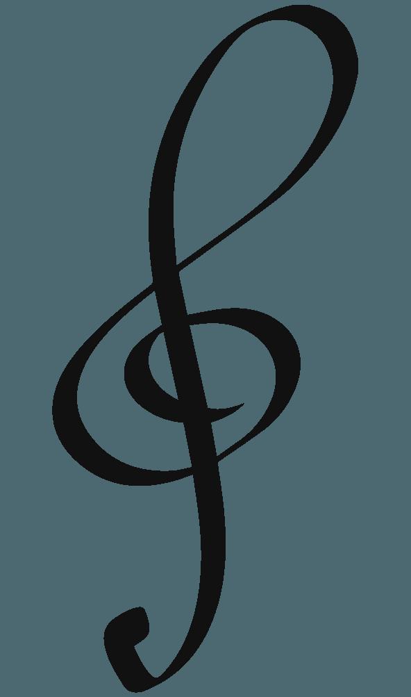 カリグラフィなト音記号のイラスト
