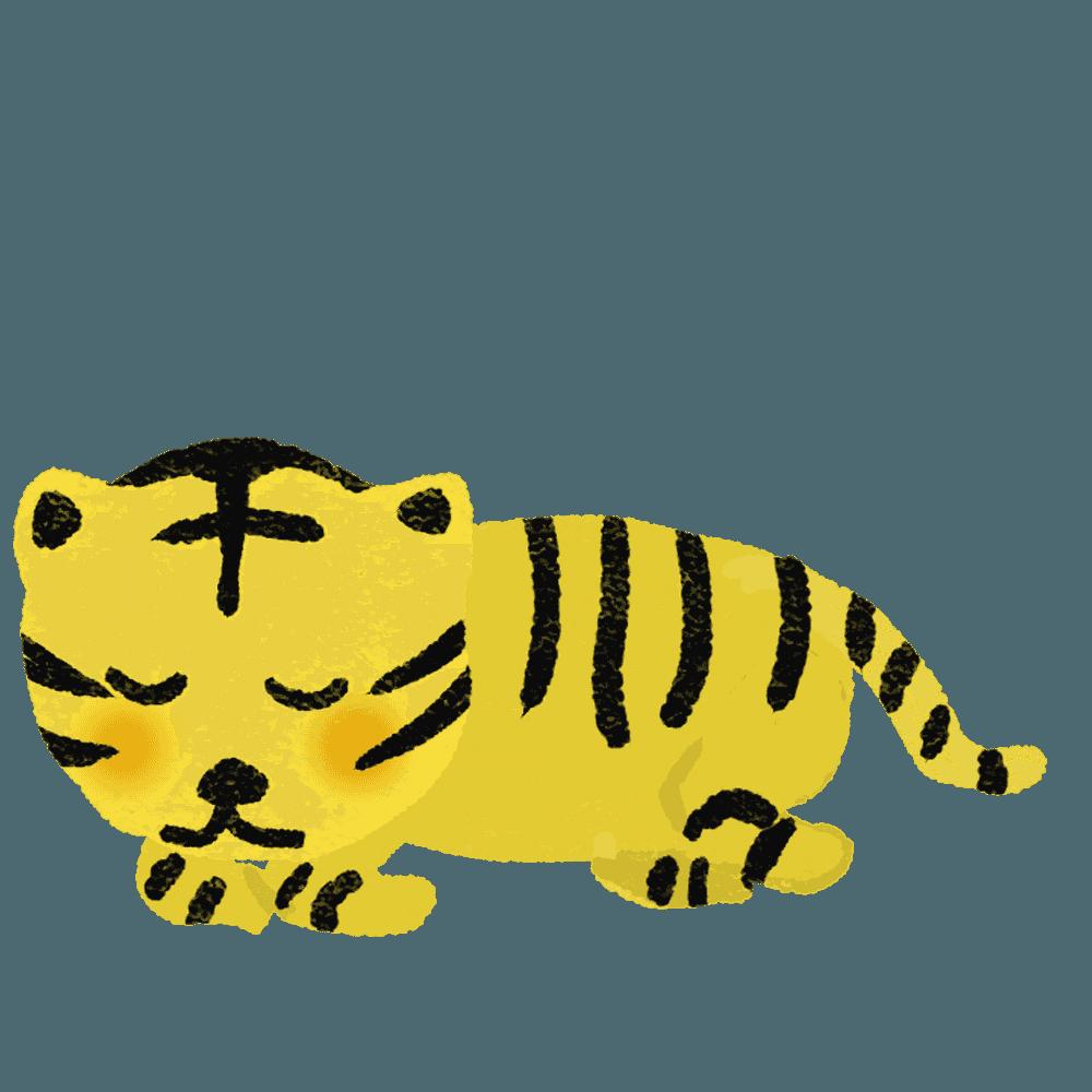 寝る虎イラスト