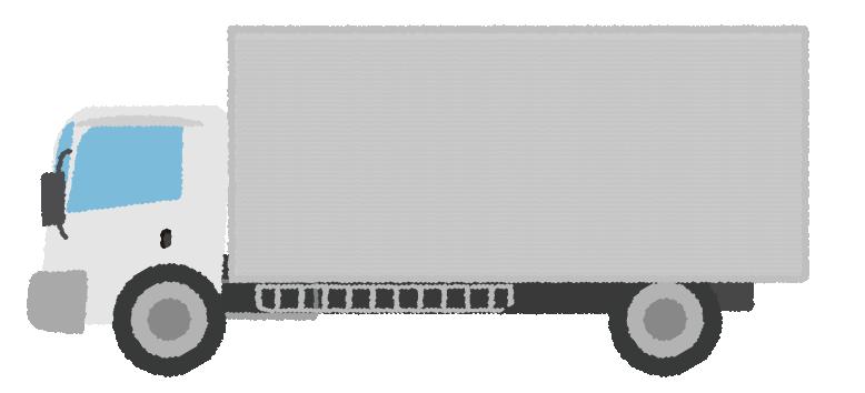 シルバーのトラックのイラスト