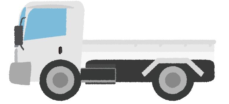 中型トラックのイラスト