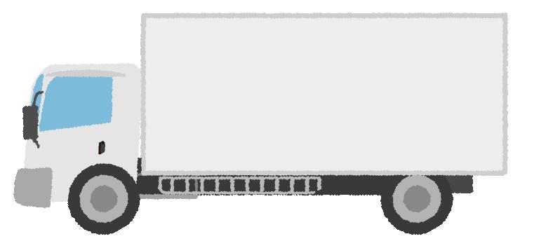 可愛いトラックのイラスト