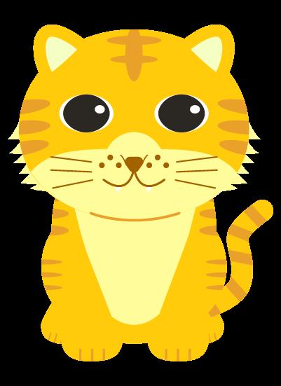 シンプルな虎のイラスト