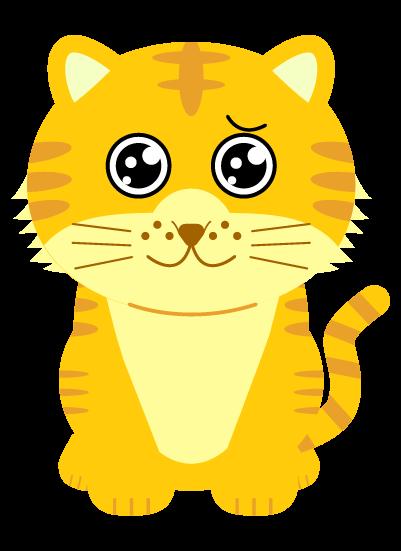 ぴえんの虎のイラスト