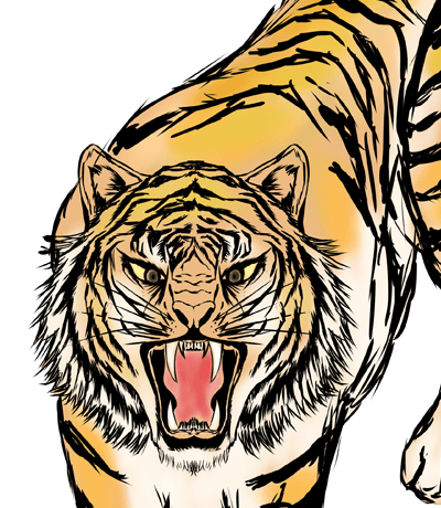 かっこい虎のイラスト