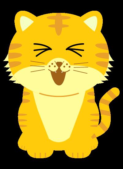 口をあけるの虎のイラスト