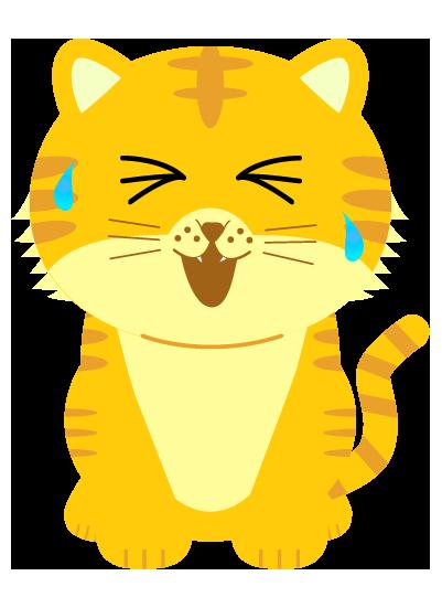 辛そうな虎のイラスト