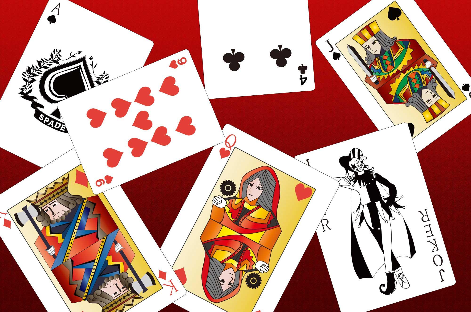 トランプのイラスト - オリジナル全53枚のカード無料素材