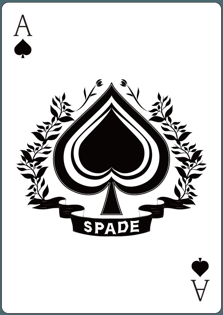 スペードのA(エース)のイラスト