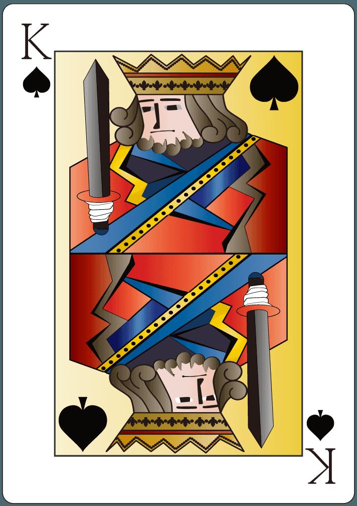 スペードのキング(13)のイラスト