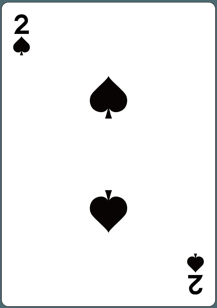 スペードの2のイラスト