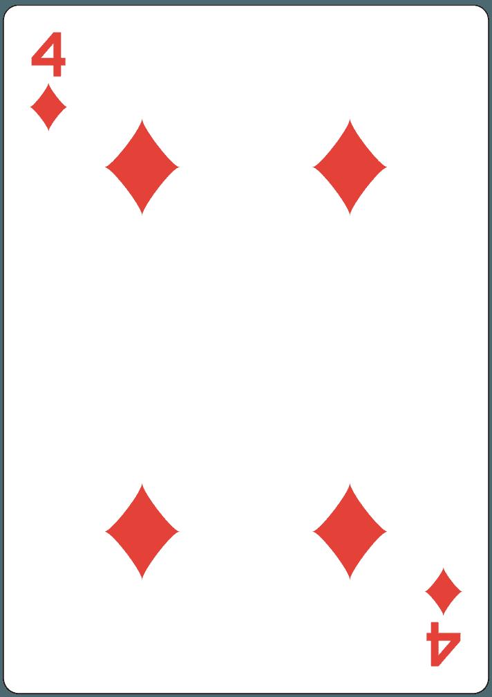 ダイヤの4のイラスト