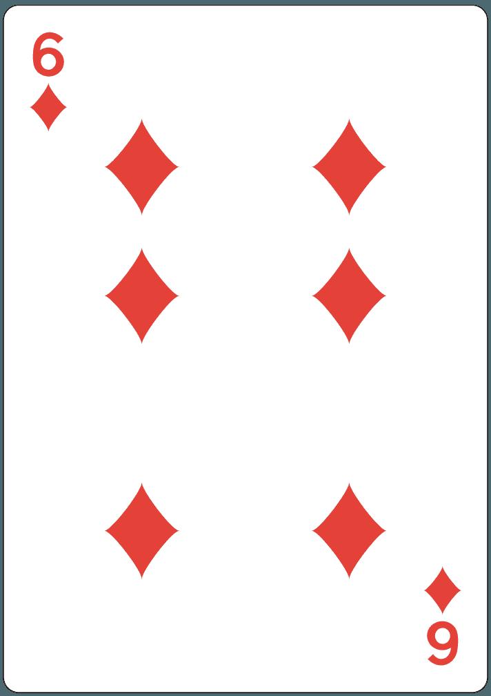 ダイヤの6のイラスト