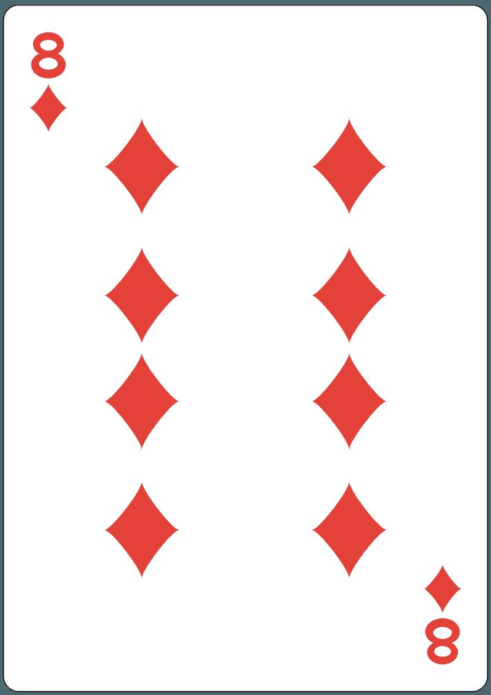 ダイヤの8のイラスト