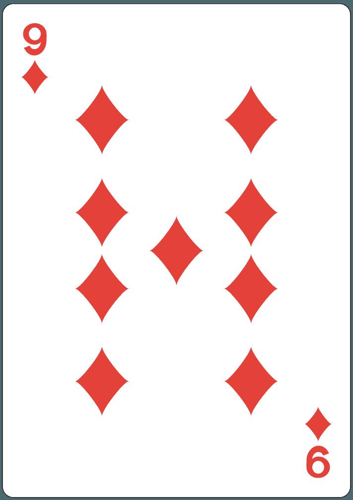 ダイヤの9のイラスト