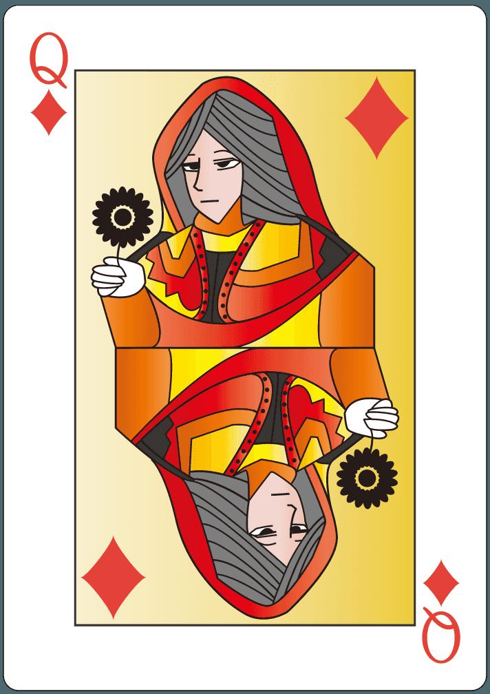 ダイヤのクイーン(12)のイラスト