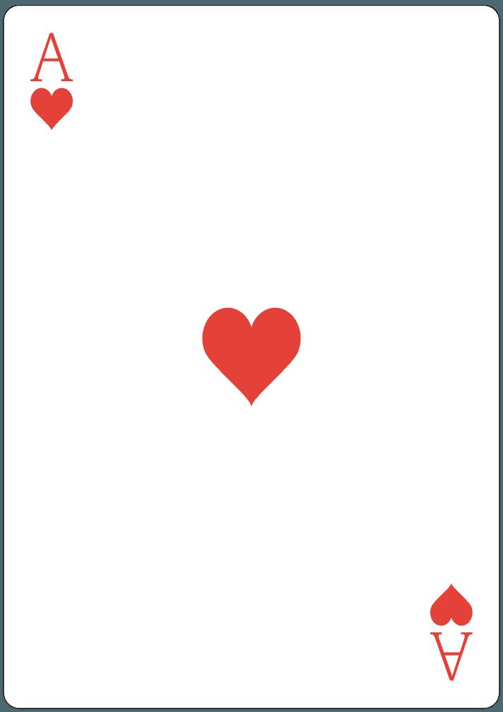 ハートのA(エース)のイラスト