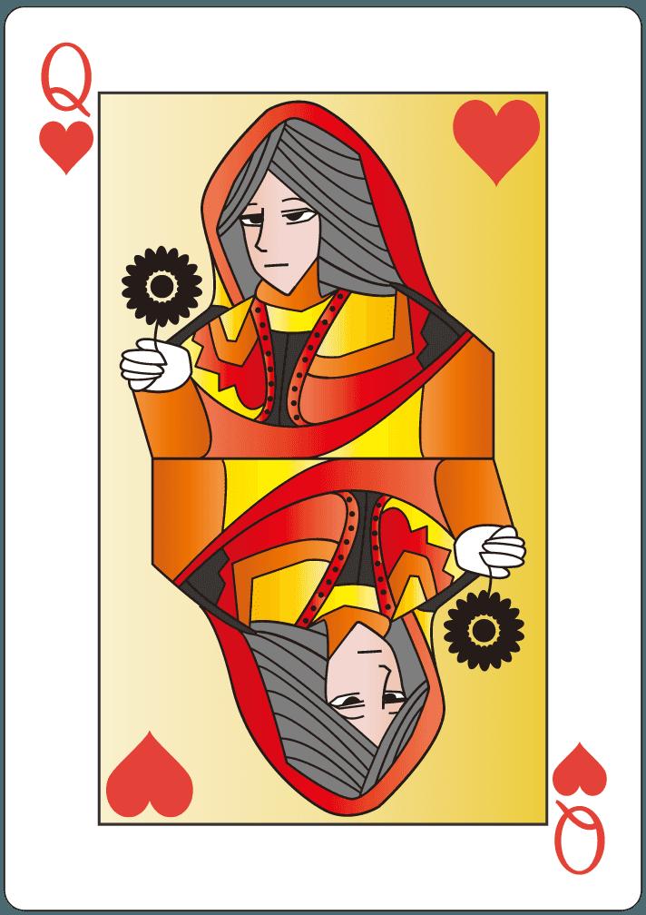 ハートのクイーン(12)のイラスト