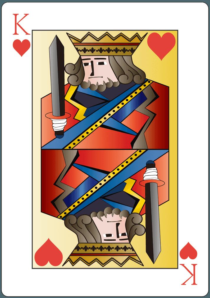 ハートのキング(13)のイラスト