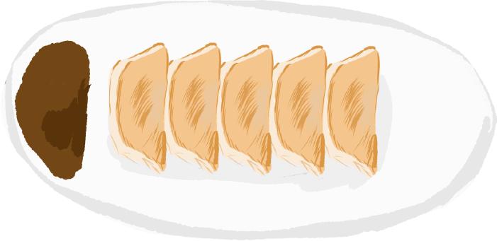 栃木の名産餃子のイラスト
