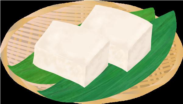 ざるにのった高級豆腐のイラスト