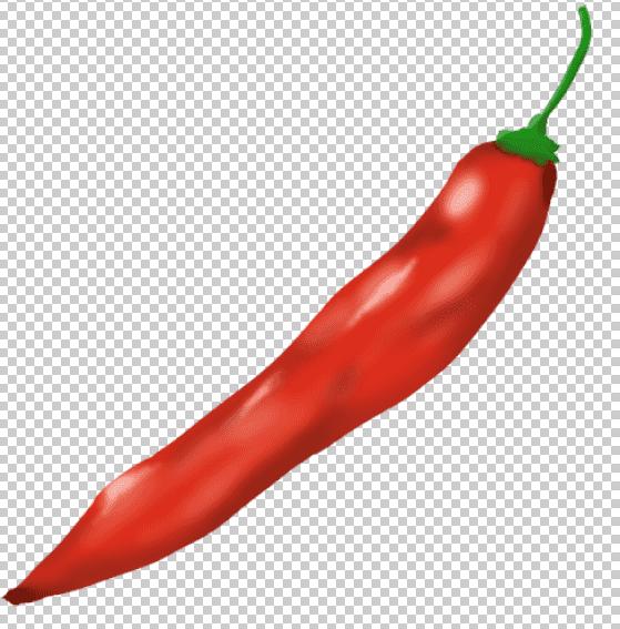 赤い唐辛子のフリーイラストをphotoshpで開く