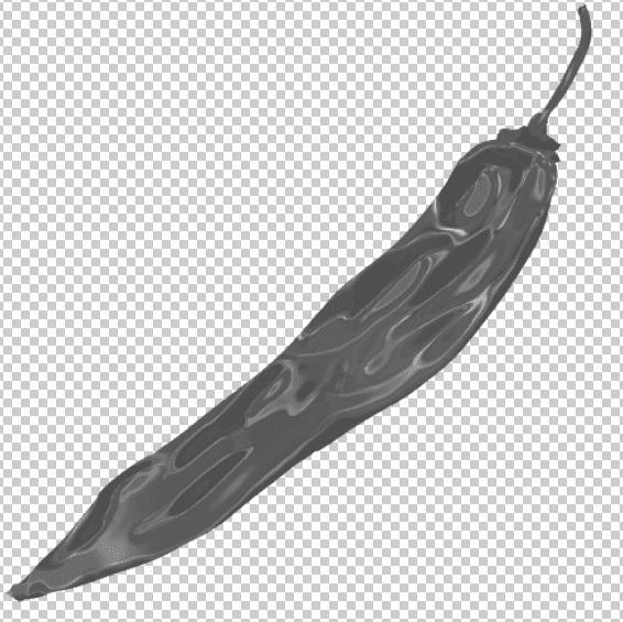 フィルタークロムが適用された唐辛子のイラスト