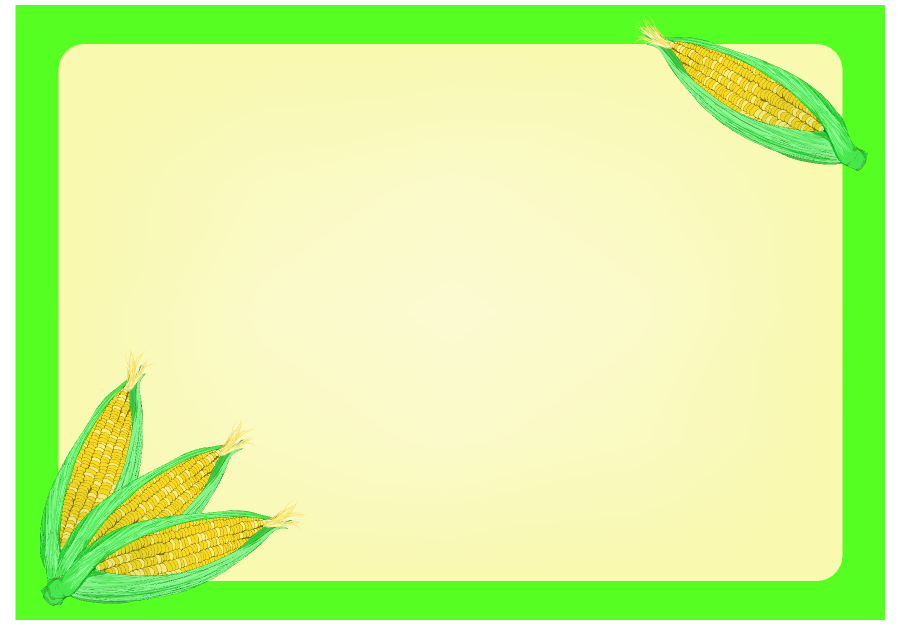 とうもろこしフレーム(背景あり897×627)