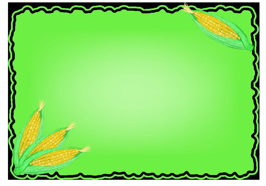 とうもろこしフレーム(背景なし897×627)