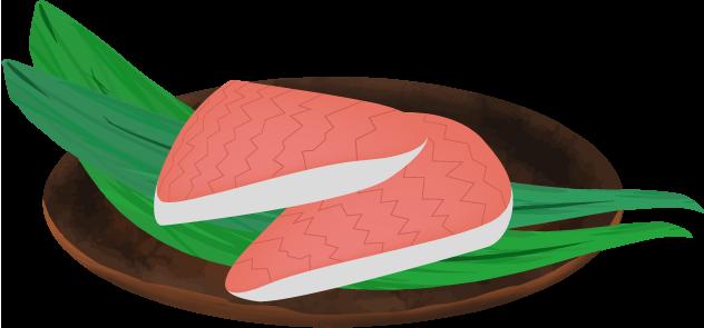 マス寿司のイラスト