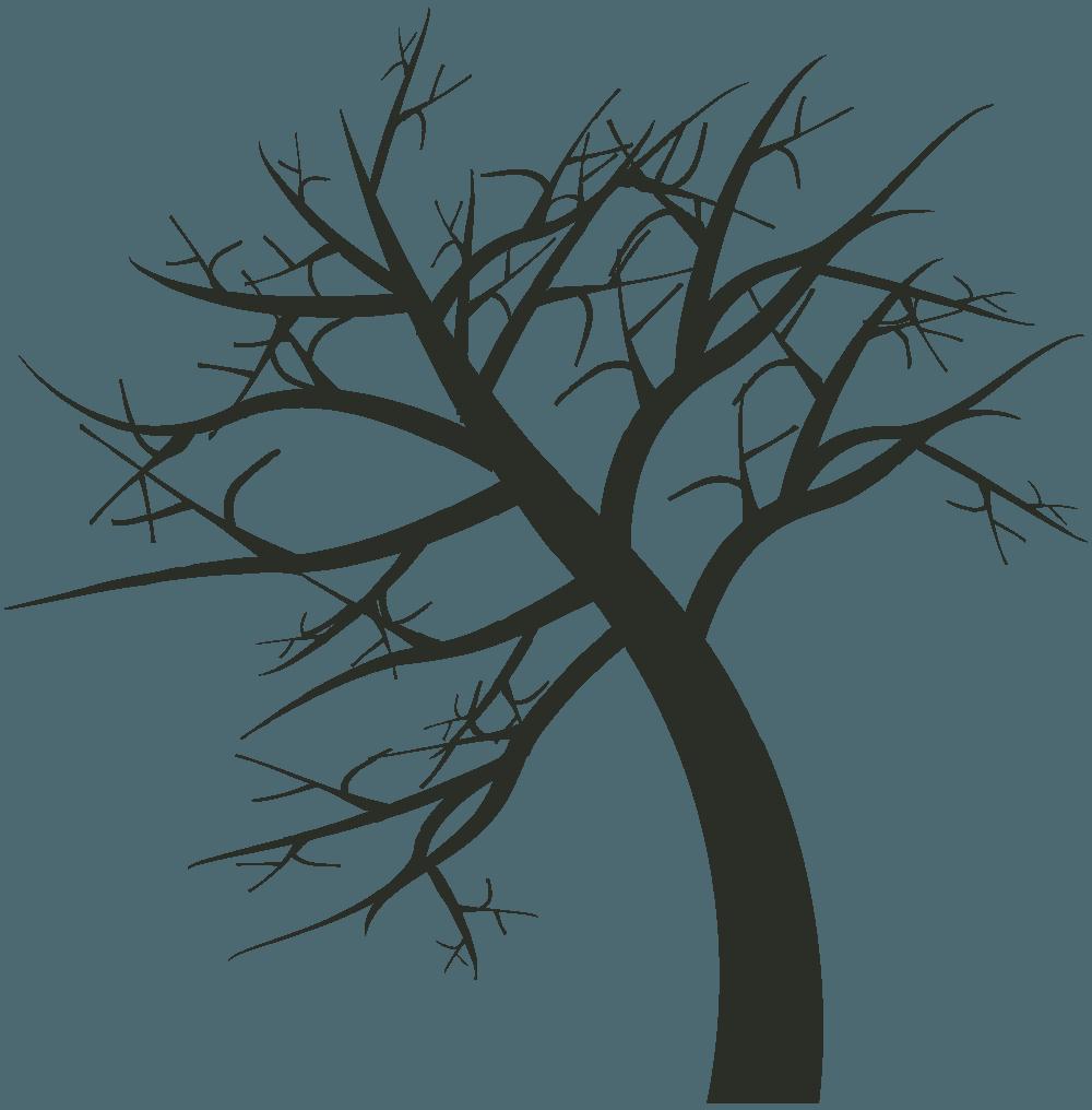 旋回する枯れ木イラスト