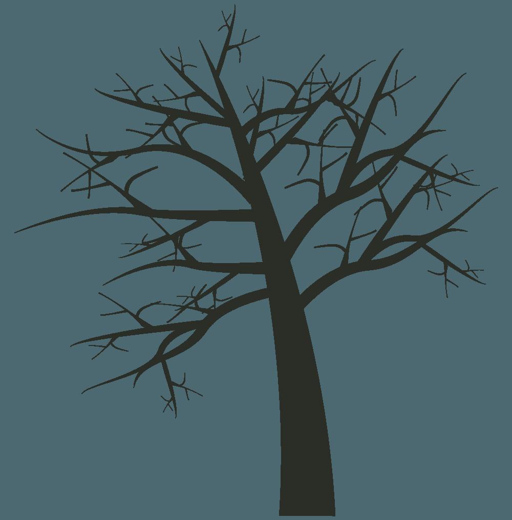 ハロウィンの枯れ木イラスト