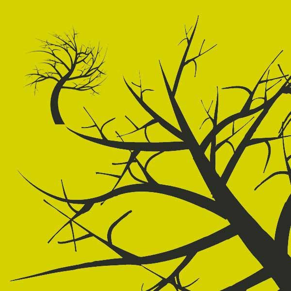 ハロウインの枯れ木のイラスト