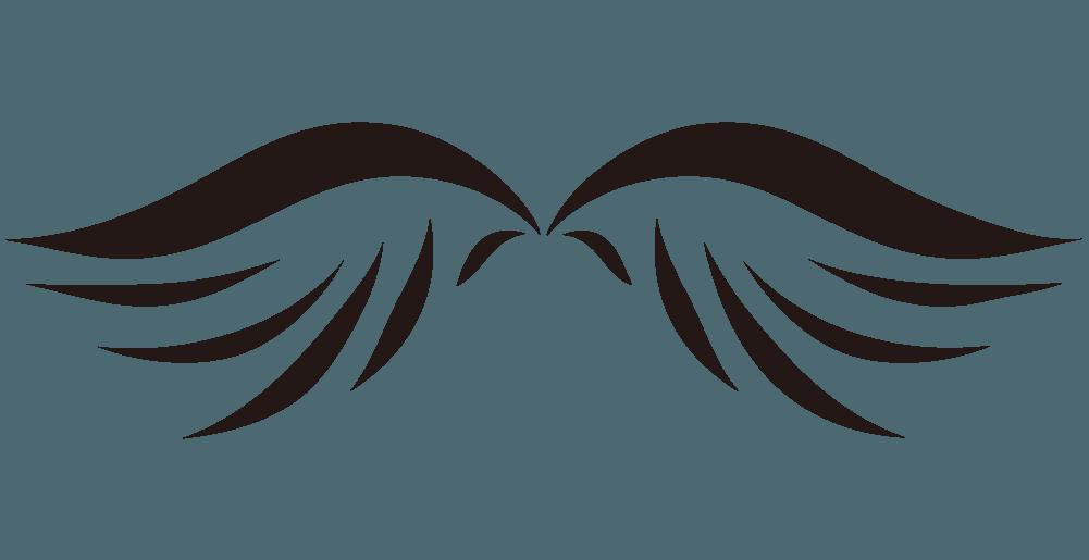 アメリカン装飾の翼のイラスト