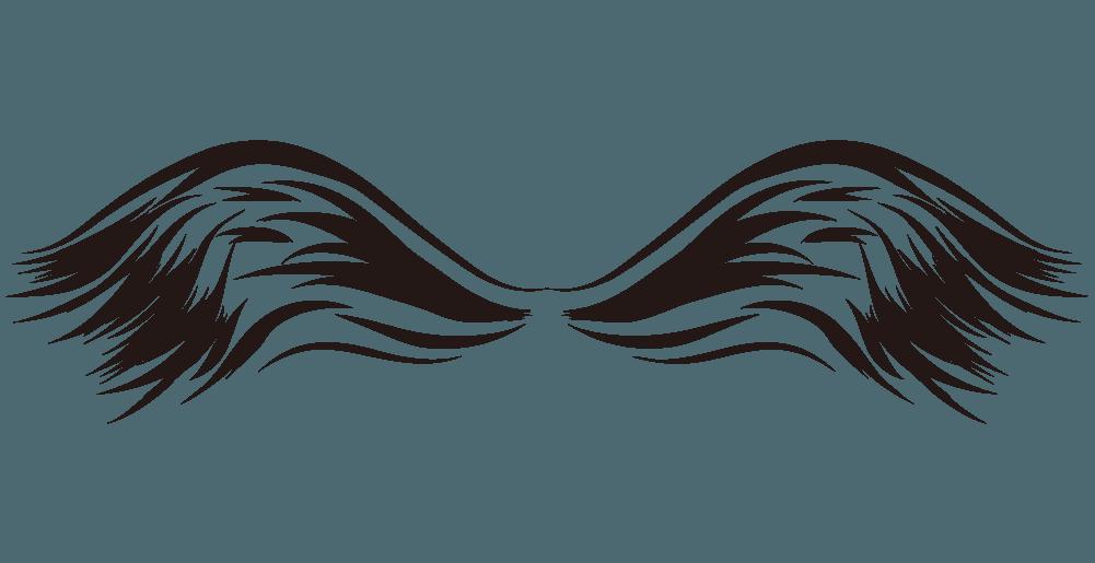 墨絵の翼のイラスト