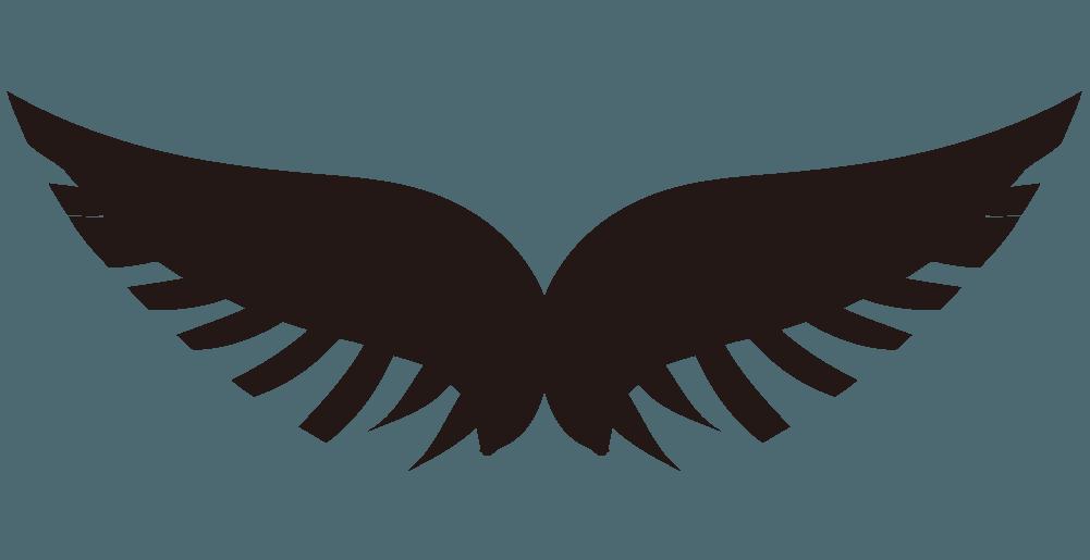 鷹の翼のイラスト