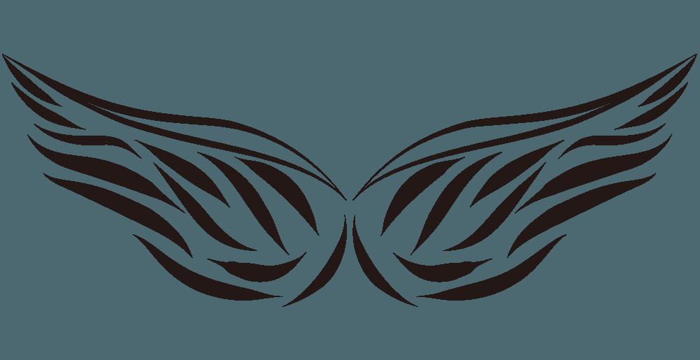 アートな線画の翼のイラスト