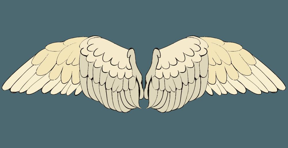 天使風の翼のイラスト