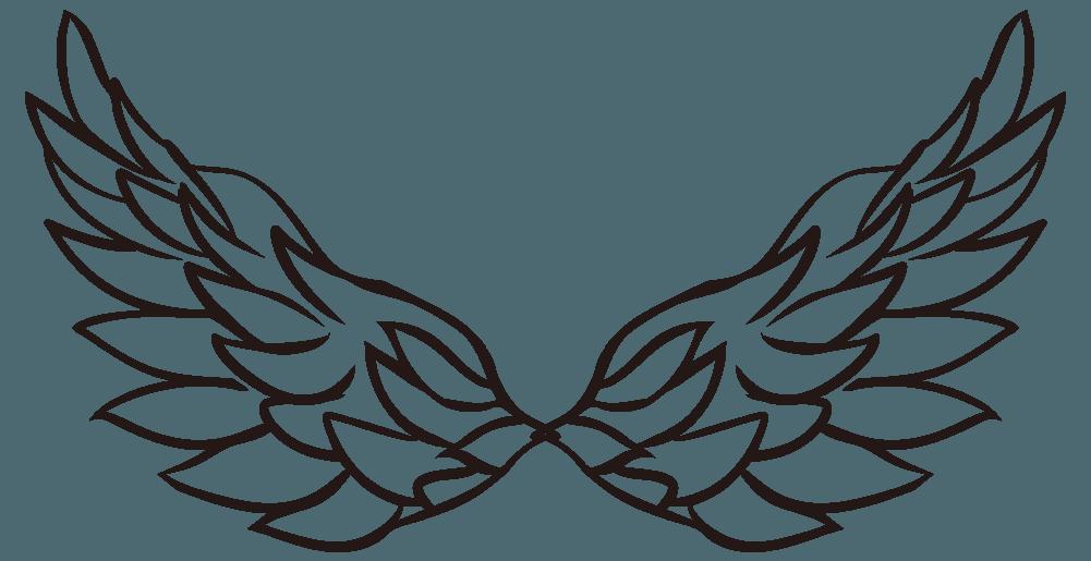 飛び立つ翼のイラスト