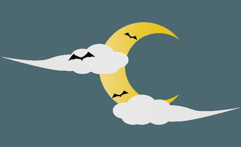 ハロウィンの怪しい三日月イラスト