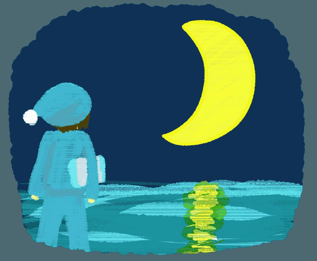 月の夢のイラスト