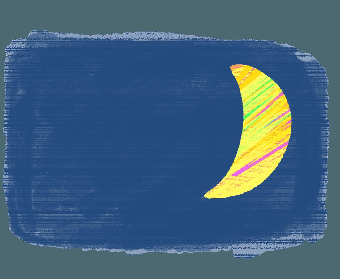 優しいタッチの月イラスト
