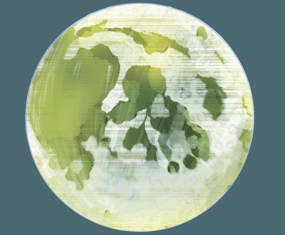 ちょっとリアルな月のイラスト
