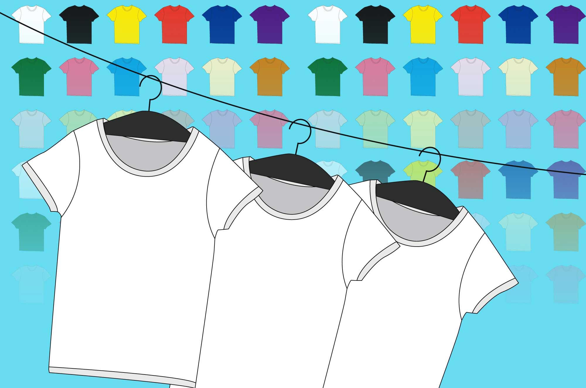 Tシャツイラスト - デザインラフテンプレート素材集!