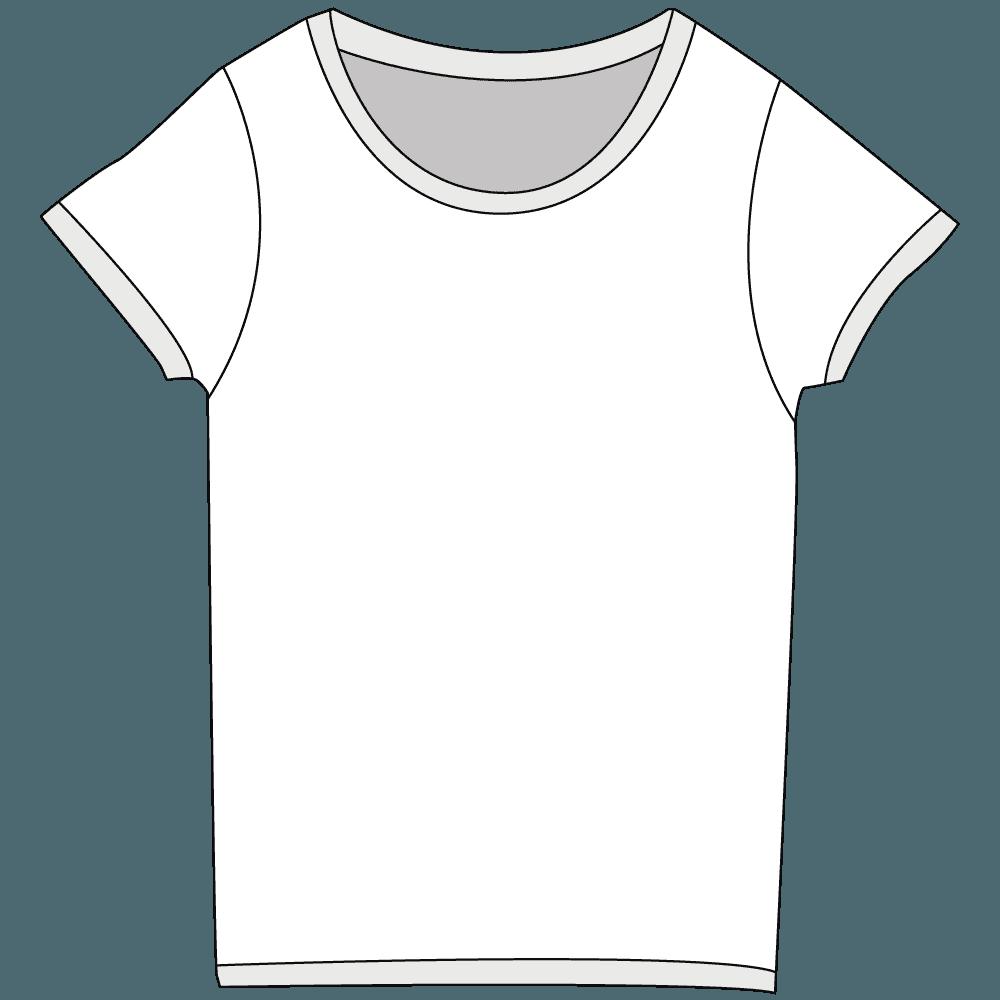 レディースTシャツホワイトTシャツイラスト