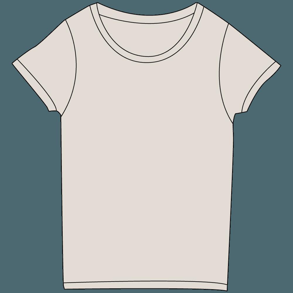 レディース淡色グレーTシャツイラスト