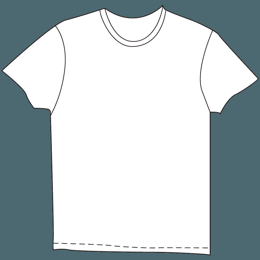 メンズTシャツホワイトイラスト