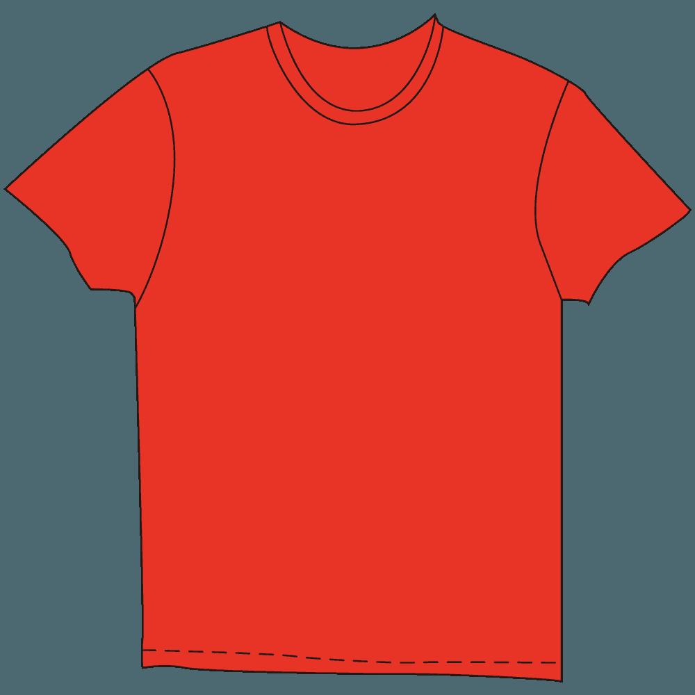 メンズTシャツ濃色赤色イラスト