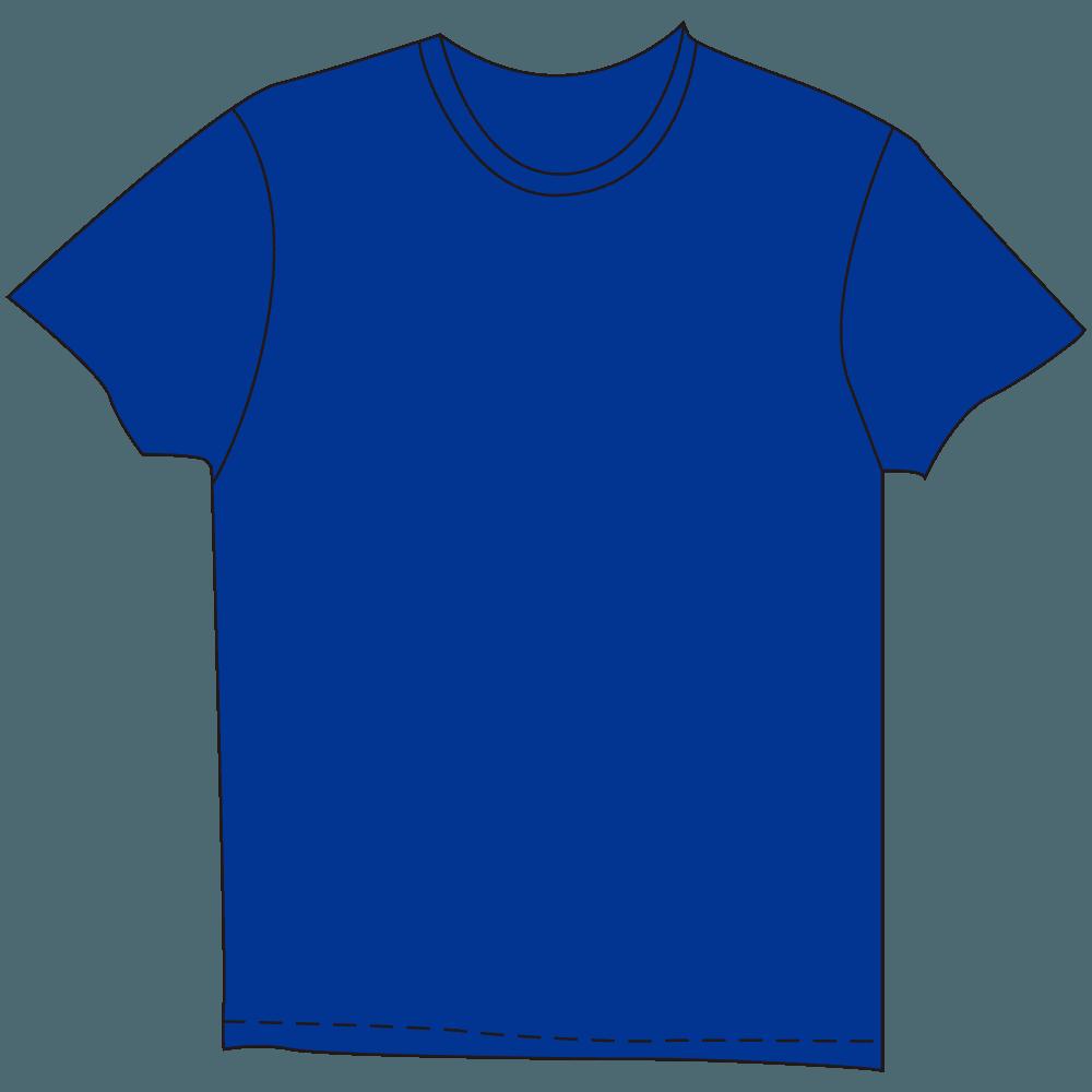 メンズTシャツ濃色ブルーのイラスト